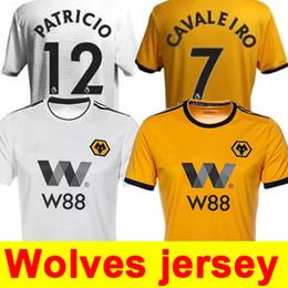 2019 ADULT HOME SHIRT 18 19 Wolverhampton Wanderers Customized kids kits  Soccer Jerseys Diogo Jota Leo Costa WOLVES FC Children Football 60d4d471d9