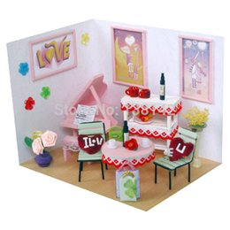 valentines sweets 2019 - 11305 Sweet Valentine house doll miniature dollhouse DIY toys furniture of wood cheap valentines sweets