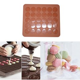 $enCountryForm.capitalKeyWord NZ - 30 holes round silicone non-stick baking pastry mats macaron mat pad chocolate cake mold for microwave oven