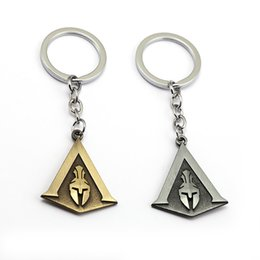$enCountryForm.capitalKeyWord NZ - Game Jewelry Assassin's Creed Keychain Shield Pendants Odyssey Keyring Holder Metal Accessory