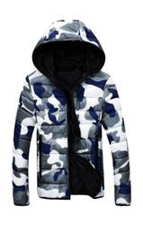 $enCountryForm.capitalKeyWord Australia - Men Hooded Collar Down Jackets Camouflage Reversible Coat Online Cheap Warm Jacket Zipper Hoodies Free Shipping