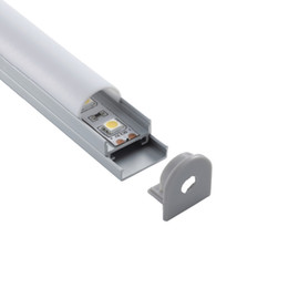 profile for led strips Canada - 300 X 2M sets lot Domed style led aluminium profile for led strip Semi round aluminum led housing for mounted ceiling lights