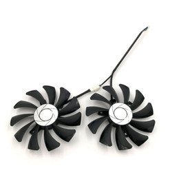 ti card UK - 1 Pair of 2pcs HA9010H12F-Z Replacement Graphics Fan for VGA Card MSI Hurricane GTX 1050 2G GTX1050 Ti 4G GTX 1060 6GT OC