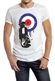Großhandel MOD T-Shirt T-Shirt Biker Retro Lambretta Roller 50er Jahre 60er Jahre 70er Jahre 80er Jahre 90er Jahre Motorrad Print Tee T-Shirt Herren Kurzarm Kleidung T-Shirt Homme