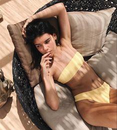 $enCountryForm.capitalKeyWord Canada - Women Swimwear Sexy Bikini 2018 Swimsuit Beachwear Swim Suit Beach Wear High Waist Solid White Black Yellow Green Pink