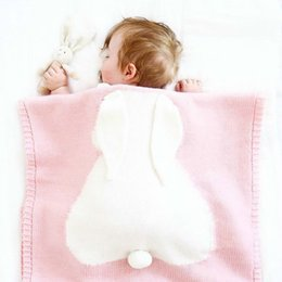 hot baby bedding NZ - LILIGIRL Hot Baby Blanket Sleepers Rabbit Knitting Blanket Bedding Quilt Play Blanket Sleepers For Baby Y18103008