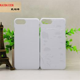 3d Phones Case Cover Canada - Wholesale Blank 3D Sublimation PC Cases for iPhone 8 8 Plus Phone Case for iPhone X Full Area Printed Phone Cover Case