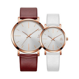 $enCountryForm.capitalKeyWord Canada - 2018 Minimalist Couples Watches Men and Ladies Quartz Wrist Watches for Lovers montre pour Couple Watch 2 Pieces 1 Pair