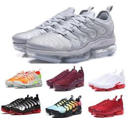 HeigHt sHoe cHina online shopping - Vapor Tn Plus Running Shoes Sneakers Mens Women Triple Olive Cargo Sherbet VM Casual Sports Canvas Tennis Training China Unisex Shoe