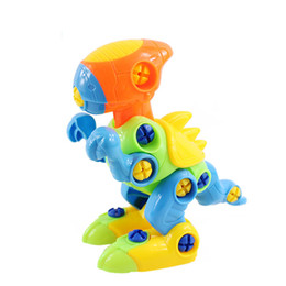 Diy Boys Toys UK - 1 pcs Irregular Shape Disguise toy Soliding Dinosaurs DIY Model Block Screws Nuts Assembled Gifts Toys for Children Boys