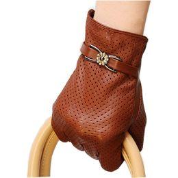 Men Gloves Leather Sheepskin Australia - enuine Leather Gloves Women Spring Autumn Thin Fashion Trend Sheepskin Gloves Finger Driving Glove L093NN-5
