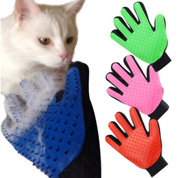 Hair Glove NZ - 1 PC Deshedding Brush Glove for Animal Cat Supplies Pet Gloves Hair Comb Five Finger Glove For Cat Grooming Supplies Cat Pet Clean