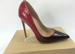 stiletto party office shoes Australia - wholesaleand retail 2018 women sexy red bottom high heels pointed toe pumps office party shoe fashion stiletto pump patent leather