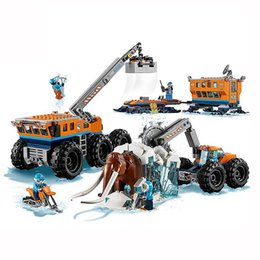 Toys Bricks Australia - New City Set Arctic Exploration Mobile Base Compatible With LegoINGLYS City 60195 Model Building Block Bricks Toys Children Gift