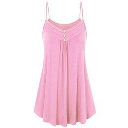 391e24c2076 sexy shirts women 2018 plus size summer top Women Summer Loose Buon V Neck Cami  Tank Tops Vest dropshipping camisa feminina