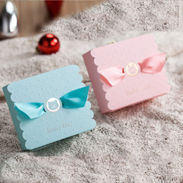 $enCountryForm.capitalKeyWord NZ - 50X Lovely Candy Boxes Birthday Pink Blue Baby Christening Kid Boy Girl Decoration Baptism Baby Shower Paper Favors Gift Box For Guest