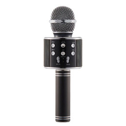 magic mic wholesale NZ - WS858 Wireless Microphone HIFI Speaker Bluetooth Condenser Magic Karaoke Microphone Phone Player MIC Speaker Record Music For Iphone 8