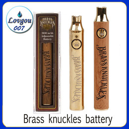 thick brass knuckles 2020 - Brass Knuckles Vape Battery 650mAh 900mAh Variable Voltage Preheat E-Cigarette VV Battery Pen For 510 Thraed Thick