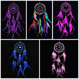 $enCountryForm.capitalKeyWord NZ - Romantic Dreamcatcher Design Wind Chime Creative Beautiful Feather Ornament Windbell For Garden Yard Decoration Hot Sale 9 5lz Z