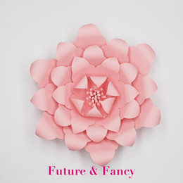Discount large paper flowers wall decor large paper flowers wall large paper flowers wall decor 2018 1 piece pink giant paper flowers nursery wall decor mightylinksfo