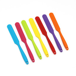 Wholesale Rubber Spatula NZ - Small Cake Cream Butter Spatula Mixing Batter Scraper Spoon Brush Silicone Baking Cook Tool