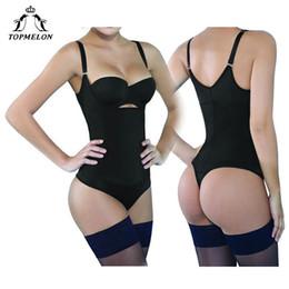 84b583dc3b wholesale Waist Trainer Modeling Strap Body Shaper Bodysuit Slim Shapewear  Underwear Women Latex Plunge U Underbust Butt Lifter