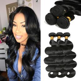 Discount human hair weaves for cheap - 8A Grade Mink Brazilian Virgin Hair Body Wave Hair Extension Human Hair Bundles Natural Color for Black Women Cheap Braz