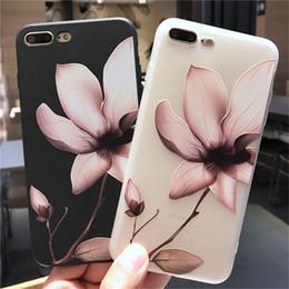 6b9f883c5b5 Estuche de flor de loto para iPhone XS Funda floral con relieve XR Max Rose para  iPhone X 7 6 6S Plus 5 SE cubierta de TPU