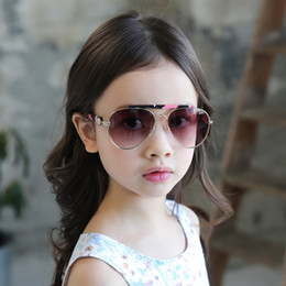 Designer Brand Aviator Sunglasses Kids Alloy Frame Sun Glasses Boys Girls Oval Mirrored Sunglasses Goggles from kids polaroid glasses manufacturers
