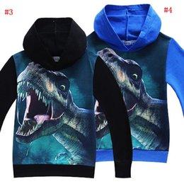Kids clothes hoodies online shopping - Children Jurassic World Park Print Hoodies Colors Girls Boys Cartoon Shirt Long Sleeve Cotton Clothing Kids Clothing MMA902
