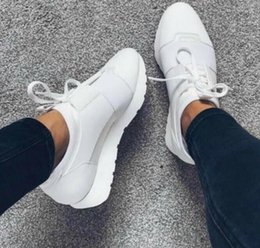 China 2018 Cheap Sell High Quality Paris Famous Brand Casual Shoes Kanye West Men Women Fashion Low-Top Sneakers Genuine Leather Designer 35-47 suppliers