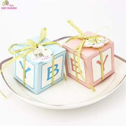 Cute deCorations for baby shower online shopping - HEY FUNNY Baby Shower Candy Box Cute Gift Bag Paper for Baby Shower Decorations Boys Girls Party Set Event Party Supplies