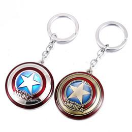 $enCountryForm.capitalKeyWord Canada - Captain America Shield Zinc Alloy Metal Marvel Keychain Avengers Spiderman ironman bat man X-man Thor Tortoise Action Figure Toys Key Chains