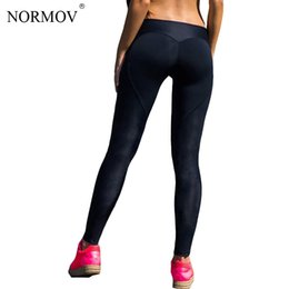 e54f56b6f9ee2 NORMOV Sexy Push Up Black Leggings Women Workout Mesh Patchwork Legging  Femme Casual Peach Heart Shaped Legging S-XL