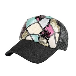 $enCountryForm.capitalKeyWord Canada - KANCOOLD Fashion Women Men Adjustable Bling Baseball Cap SplMarble Floor Texture Sequin Mesh Hat M30MA9