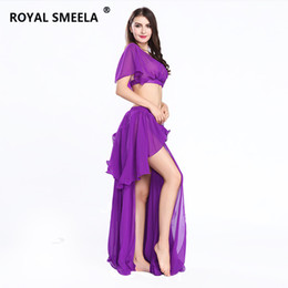 sexy dancing cloth UK - 2018 Free Shipping Sexy fashion bellydance costume high quality belly dance costume set belly dance cloths Top&Skirt -ZH8810
