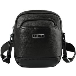 Fashion business brand men's genuine leather bag multi-function outdoor leisure men messenger bags leather mobile phone bag