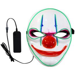$enCountryForm.capitalKeyWord NZ - 2018 Halloween Clown Glowing Full Face Masks Costume Skull Party EI Cold Light Plastic Street Dance Mask