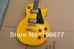 $enCountryForm.capitalKeyWord NZ - Super Les Custom Randy Rhoads Signature * Ebony Fingerboard + Fret Binding * Yellow Electric Guitar Grover Tuners Free Shipping