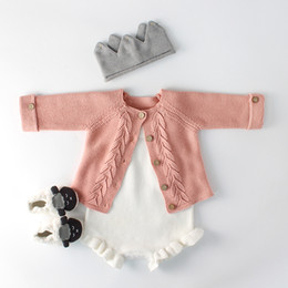 2018 Baby Boys Sweaters Solid Baby Girls Clothes Knitted Sweater for Newborn Girls Clothing Boys Cardigans