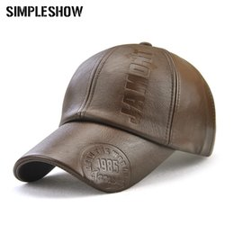 3e92428cbce57 2018 Fashion New Leather Hat Autumn And Winter Hat Casual Snapback Baseball  Cap Men s And Women s Cap DropShopping