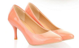 pink stilettos shoes size 43 2019 - Free send Hot Small code 31 32 33 yards big size 40 41 42 43 yards Korean pointed end high heel shoes new women's S
