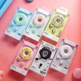 Mp4 cartoon online shopping - Headset Cute Earphones New Macarons Donut Cartoon Earphone MP3 MP4 Headphones Portable Earplug Headphone MM for Samsung S6 c