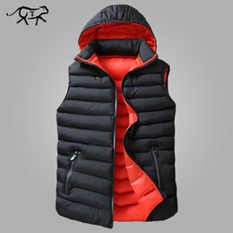 Chinese  Winter Sleeveless Jacket Men Down Vest Men Warm Thick Hooded Coats Male Cotton-Padded Men's Work Waistcoat Gilet Homme Vest 8XL manufacturers