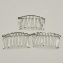 Comb Clips metal online shopping - 50pcs Black gold silver Teeth Wedding Bridal DIY Wire Metal Hair Comb Clips Hair Findings Accessories