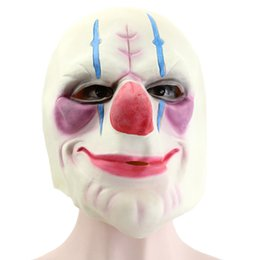 face mask pattern UK - Hanzi_masks Batman Clown Joker Mask Latex Full Face Adults Mask Full Head Payday Clown Cosplay Costume Party Mask For Halloween