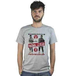 5ba73b7703dc Joe Shirts Canada - T-Shirt Joe Frazier vs Cassius Clay, maglietta grigia,