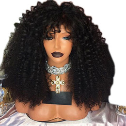 heat resistant wig black blonde Australia - black brown blonde color Heat Resistant Hair Fiber Kinky Curly afro Wig Full 180 Density Synthetic Lace Front Wigs for africa american