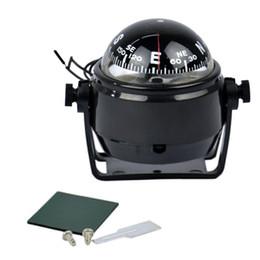 Взрыв модели 2018 горячие 12 В светодиодные фонари морской электронный цифровой компас карты колесо лодка караван компас