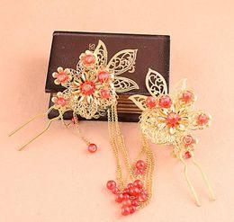 $enCountryForm.capitalKeyWord NZ - Chinese bride headwear, dragon and Phoenix gown, Phoenix crown, hair fork, hairpin, hand crafted Princess hair accessories